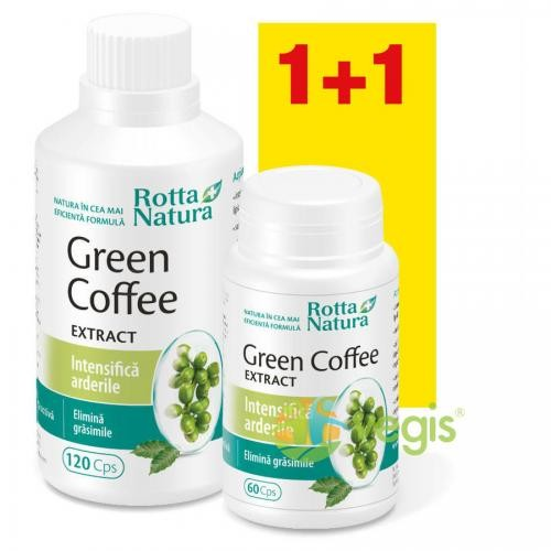 Green Coffee Extract 120cps+60cps Gratis - Suplimente - Capsule, Comprimate