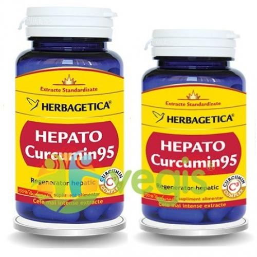 Hepato Curcumin 95 60cps+30cps Pachet 1+1 Promo