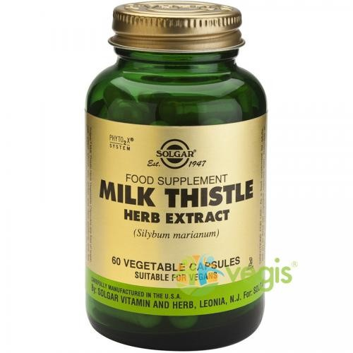 Milk Thistle Herb Extract 60cps (Extract din planta de Silimarina) - Suplimente - Capsule, Comprimate