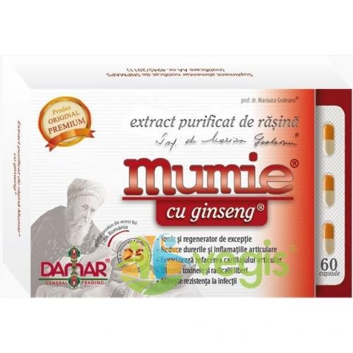 MUMIE Extract de Rasina si Ginseng 60cps - Remedii - Remedii Capsule, Comprimate
