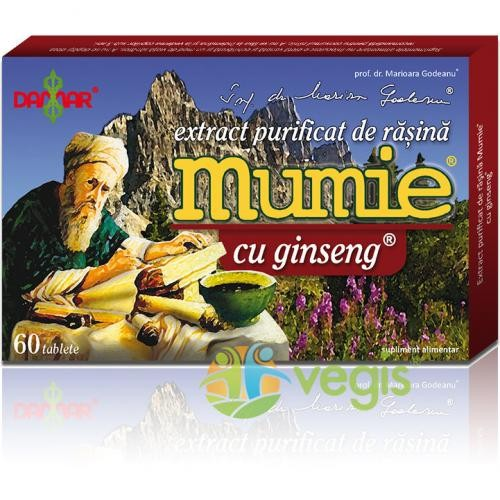 Mumie Extract De Rasina Si Ginseng 60tablete - Suplimente - Capsule, Comprimate