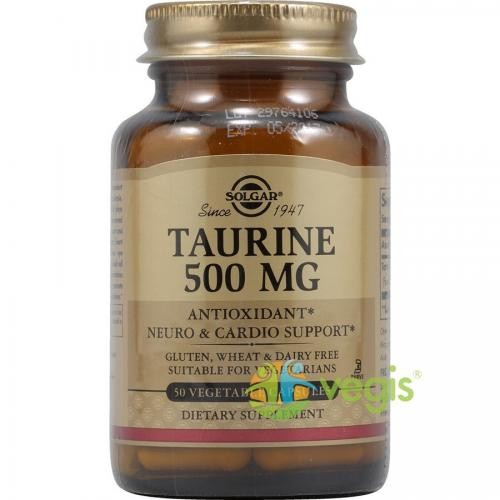 Taurine (Taurina) 500mg 50cps Vegetale - Suplimente - Capsule, Comprimate