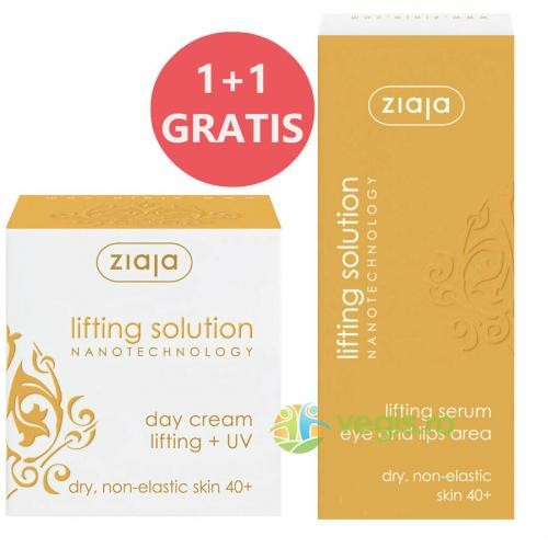 Crema De Zi Lifting Solution 40+ SPF 10 50ml + Ser Antirid Pentru Ochi Si Buze 30ml Gratis - Cosmetice - Cosmetice ten