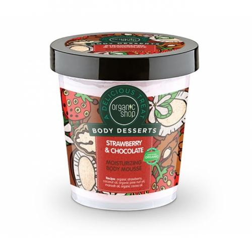 Mousse de corp – Strawberry & Chocolate – Organic Shop – 450 ml